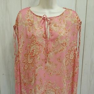 Top by Talbot's Sheer  Multi Color   No size tag
